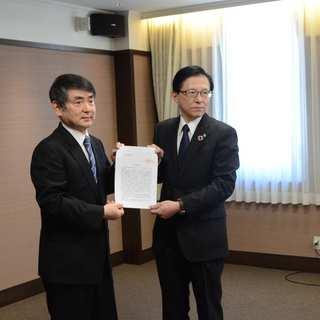 富山県経営者協会に「2020春季生活闘争に係る要請書」を手交