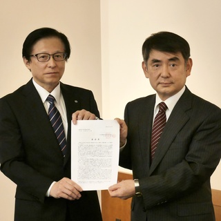 富山県経営者協会へ「2021春季生活闘争に係る要請書」を手交